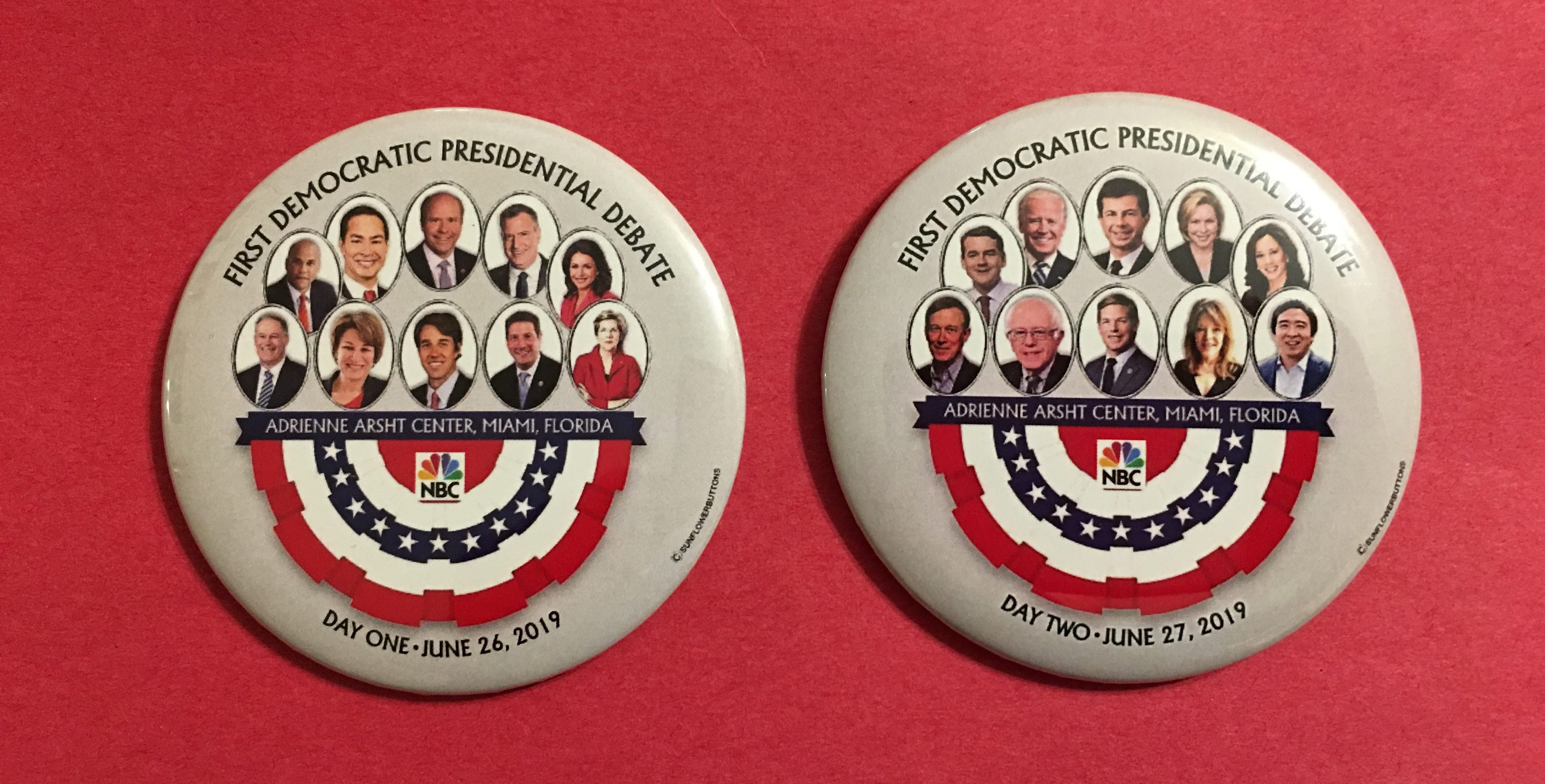 Democratic Debate lineup buttons