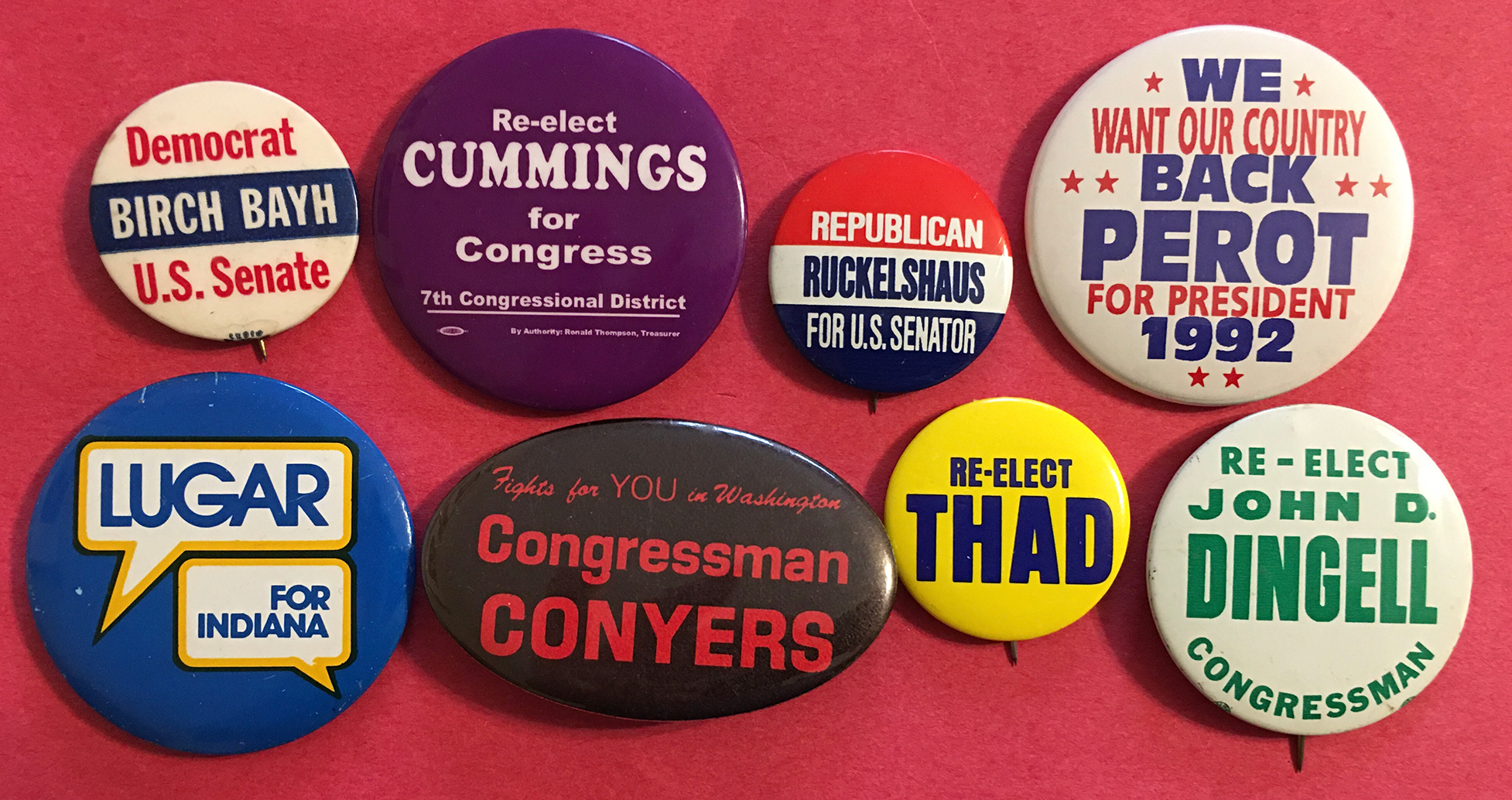 Buttons from 2019 Remembrances Special
