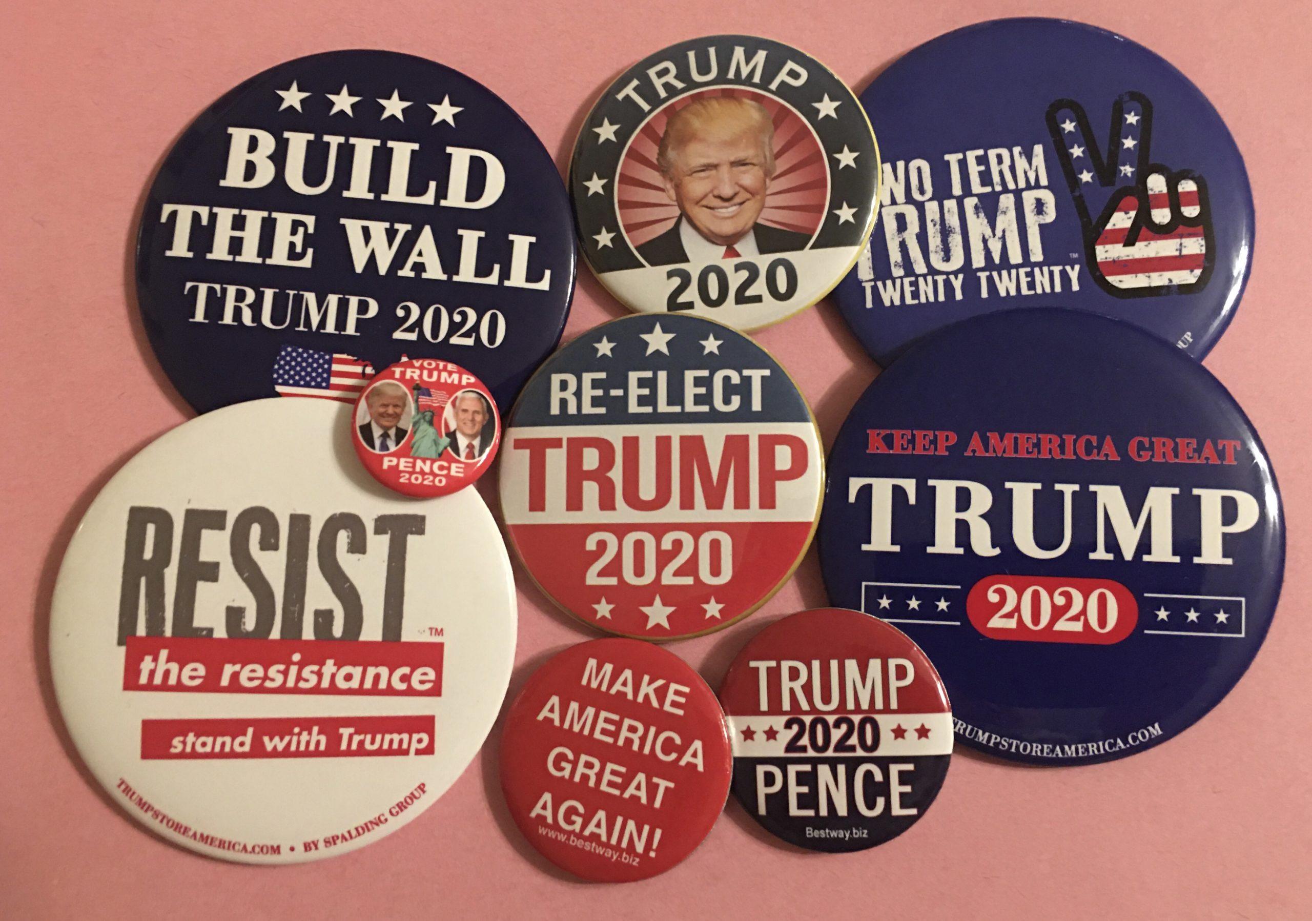 Trump 2020 buttons